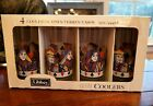 VINTAGE LIBBEY KING QUEEN PLAYING CARD POKER GLASSES GLASS MINT IN BOX MIB 15 OZ