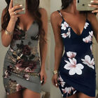 Womens Sexy Floral Bodycon Evening Party Cocktail Club Bandage Short Mini Dress