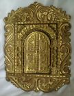 Gold Painted Wooden Wall Panel Plaque