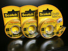 3 Pack Scotch Double Sided Stick Tape Hand Dispenser 1 2 x 450 Photo Safe