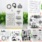 Transparent Silicone Clear Stamp Cling Seal Scrapbook DIY Embossing Album Decor