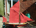 Small scratch built model semi scale Thames barge. Hull approx 350cm long.