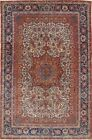Antique Master Piece 8x10 Wool Vegetable Dye Wool Sarouk Farahan Rug Handmade