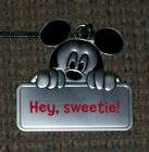 HALLMARK DISNEY HEY SWEETIE MICKEY MOUSE METAL CHARMER/ORNAMENT NEW WITH TAG
