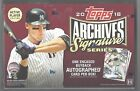 2018 TOPPS ARCHIVES SIGNATURE SERIES FACTORY SEALED HOBBY BOX ACTIVE PLAYERS