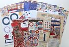 Scrapbook Kit 4th of July Bo Bunny Anthem Papers  Embellishments Lot 1