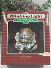 1988 HALLMARK Kitty Capers Blinking Light Christmas Keepsake Ornament NEW IN BOX