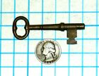 Real True Vtg Antique Old Ornate Fancy Solid Barrel Brass Door Lock Skeleton Key