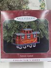 HALLMARK YULETIDE CENTRAL #5 SERIES 1998 CHRISTMAS ORNAMENTS RED CABOOSE TRAIN