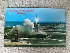 Kennedy Space Center Florida Vintage Postcard 1960s 1970s Rocket Launch Forida