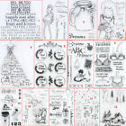 School Girl Silicone Stamp Transparent Rubber Stamps Cling DIY Scrapbook Card