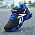 Boys Leather Sport Shoes Sneakers Athletic Tennis Running Shoes High Top Sneaker