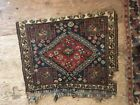 Vintage Distressed Wool Rug damaged 20 by 24 in
