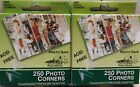 Lot of 2 Boxes Pioneer Photo Safe Corners Self Adhesive 250 Pkg Clear Acid Free