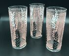 Libbey Retro Mid Century Modern 6.5 inches tall Glasses set of three NR