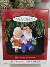 HALLMARK THE CLAUSES ON VACATION #1 SERIES 1997 CHRISTMAS ORNAMENTS FISHING