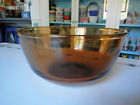 Vintage Kitchen Glassware Fire King Anchor Hocking Glass Brown Amber Mixing Bowl