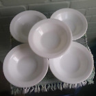Vintage Anchor Hocking Bright White Milk Glass Bowls 928 Restaurant Ware Vitrock
