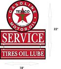 TEXACO Gasoline Oil Tires Lube & Gas Station Aluminum Vintage 22