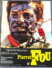 PIERROT LE FOU Jean Luc Godard 1965 Belmondo french orig movie poster 15x21