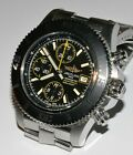 Breitling SuperOcean Chronograph 44mm Stainless Steel Black Dial Watch! A13341!
