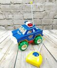 Vintage Radio Shack Radio Controlled RC Car Kids Police One Button Colorful