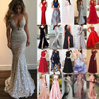 Sexy Womens Wedding Cocktail Formal Prom Evening Party Long Maxi D