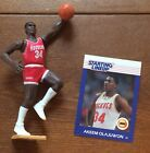 Starting Lineup 1988 Hakeem Olajuwon NBA Houston Rockets Loose And Card