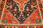 C1930s ANTIQUE PRSIAN MALAYER RUG 4.6x7.6 AMAZING COLOR COMBINATIONS and DESIGN