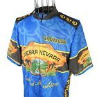 Vintage Pearl Izumi Sierra Nevada Ale Graphic Allover Cycling Jersey Mens XL USA