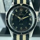 1950's Rare Vintage Zenith S 58 Diving Milatry With Bakelite Bezel