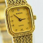 Vintage Rado Quartz Gold One-Piece Case Watch 133.5305.2 Swiss Made E765/30.4