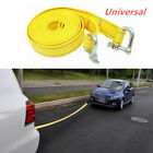 Yellow 5 Tons 5m Nylon Truck Van Tow Cable Rope HookRecovery Pull Towing Strap