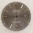 Rolex Men Datejust Gray Slate Tapestry Stick Dial w/ Outer Track-16030,16014