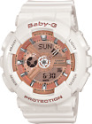 Casio Baby-G BA110-7A1 Ana-Digital White Resin Rose Gold Dial Ladies Watch