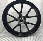 """HARLEY XL883 1200 FRONT RIM 2011 SPORTSTER SUPERLOW GLOSS BLACK WHEEL """"OUTRIGHT"""""""