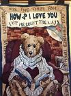 Boyds Bears Tapestry Wall hanging How Do I Love You Valentines Day 26x36