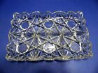 Vintage Divided Condiment Tray Platter Heavy Clear Glass 4 Section 12