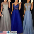 USA Women Formal Wedding Bridesmaid Evening Party Ball Prom Long Cocktail Dress