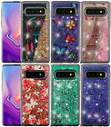 Samsung Galaxy S10 S10+ Plus Hard Rubber Floating Liquid Waterfall Glitter Case