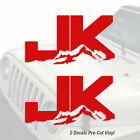 Jeep Wrangler Jk Rock Crawler Pair Decal Vinyl Pre-cut Sticker Set 2 Decals A