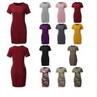 FashionOutfit Women's Causal Short Sleeve Round Neck Loose fit Mini Dress