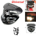 Motorcycle Scooter Motocross Headlight Fairing Light Dual Street Fighter w/ Bulb