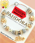 AUTHENTIC PANDORA Bracelet Silver Gold LOVE STORY Charms with European Charms Ne