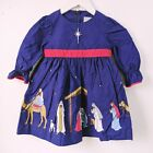 ELEANOR ROSE Girl 2T Silent Night CHRISTMAS Nativity Manger Jesus Dress Purpl E3