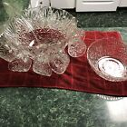 Vintage Punch Bowl 12 Cups With Small Bowl No Chips No Cracks Perfect Condition