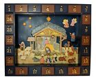 Kurt Adler J3767 Wooden Nativity Advent Calendar Night Sky Magnetic Pieces
