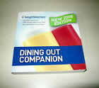 PRE OWNED Weight Watchers 2008 Dining Out Companion Book