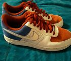 Nike Air Force 1 Mens Low Sneakers Size 95 Red White Blue