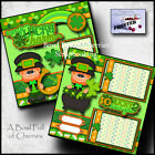LUCKY CHARM 2 premade scrapbook pages ST PATRICKS paper piecing CHERRY 0052